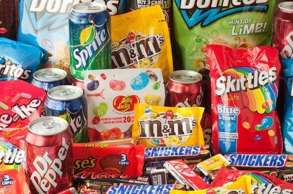 Junk-food candy soda