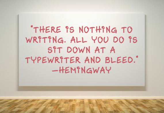 Writers bleed on paper