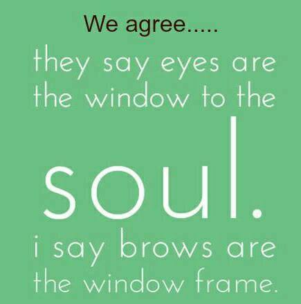 brows are the window frame