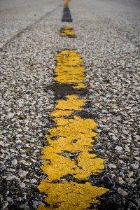 broken yellow lines