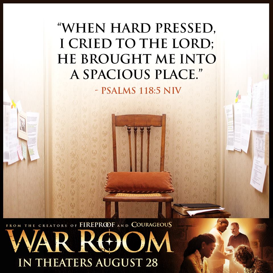 When hard pressed, I cried to the Lord,. He brought Me into a spacious place.