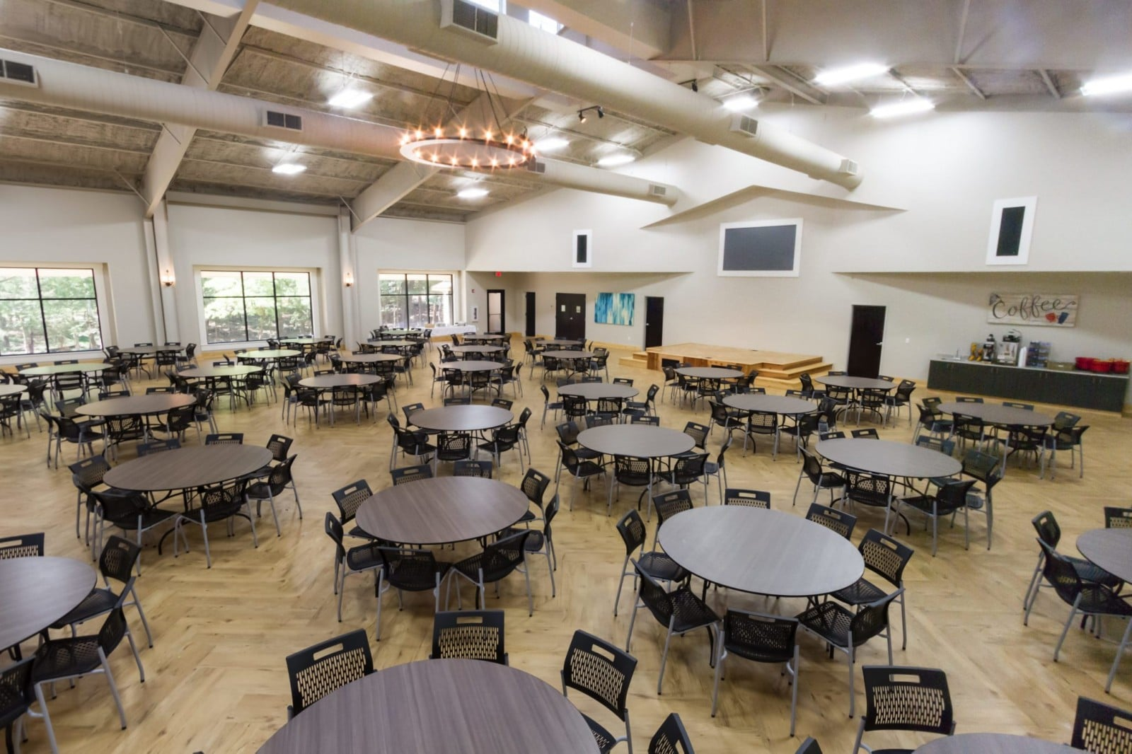 Pine-Cove-Woods-Metal-Building-Dining-Hall-Interior-View